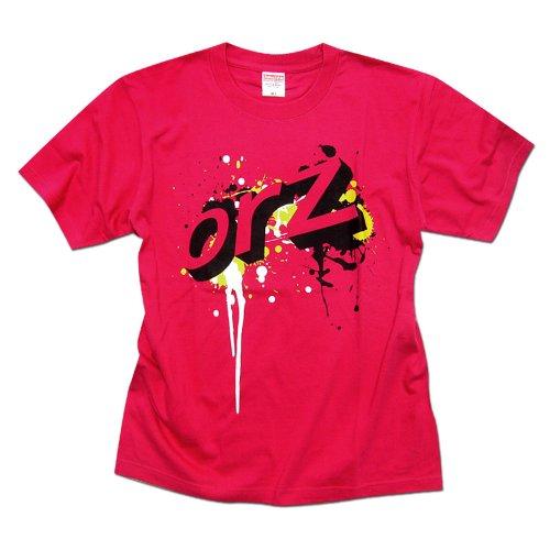 2ちゃんねる Tシャツ - グラフィティorz HOTPINK LL
