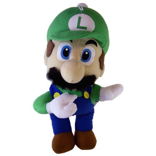 Mario Bros Luigi Stuffed Toy   Nintendo Super Mario Bros Luigi Plush Doll (12 In)