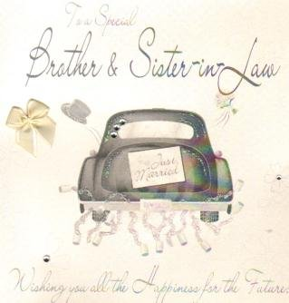 Brother and Sister-in-Law wedding Day, Handmade Wedding Card