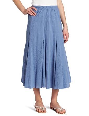 alfred dunner s gauze skirt blue 8 at