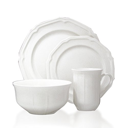 Mikasa Antique White 16-Piece Dinnerware Set, Service for 4 (Porcelain Service For 12 compare prices)
