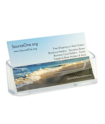 Source One Clear Acrylic Business Card Holder (BC-1) (Business Card Stand Holder compare prices)