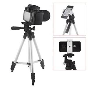 Neewer® Easy-Adjust Two-way Smartphone Tripod Spring Lock Holder for iPhone 6 6+ 5S 5C 5 4S 4 Gold, Google Nexus 5 Samsung Galaxy S5 S4 S3 (White)