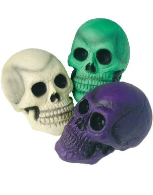 New Halloween Horror Decor Purple Prop Skull Decoration