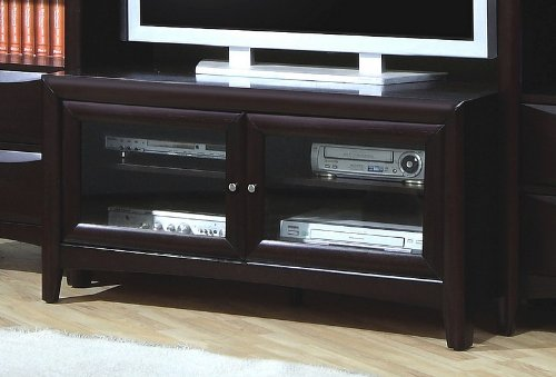 Cheap Portola Media 47″ TV Stand in Cappuccino (B001HFH9GU)