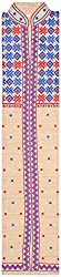 The Phulkari Women's Cotton Unstitched Kurti Material (Blue & Red)