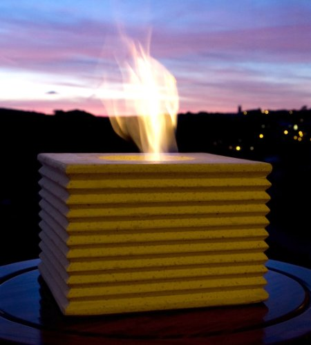 Large Cube Patio Heater Gel Burner White