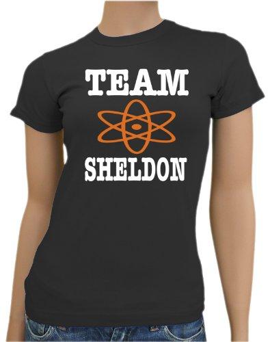 The Big Bang Theory-Team Sheldon Ladies T-Shirt XS-XXL,. Color Black X-Large