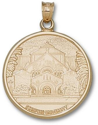Stanford Cardinal Palm Drive Church Pendant - 14KT Gold Jewelry by Logo Art