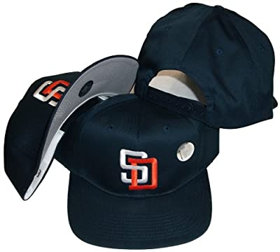 San Diego Padres Vintage Plastic Snapback Adjustable Plastic Snap Back Hat / Cap