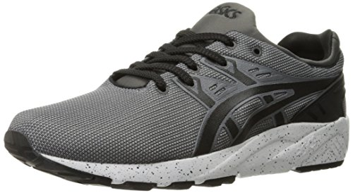 ASICS Men's Gel-Kayano Trainer Evo Fashion Sneaker, Medium Grey/Black, 11.5 M US