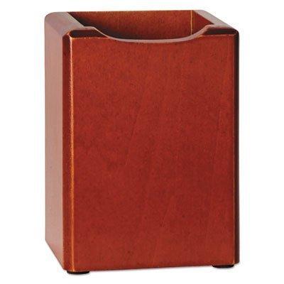 rolodex-23380-wood-tones-pencil-cup-mahogany-3-1-8-x-3-1-8-x-4-1-2-by-rolodex