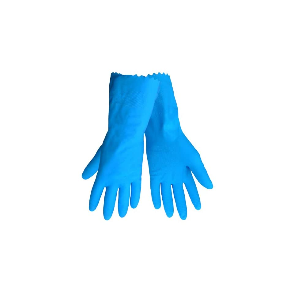 Global Glove 140FB Latex Rubber Flocklined Honeycomb Pattern Glove, Work, Large, Blue (Case of 144)