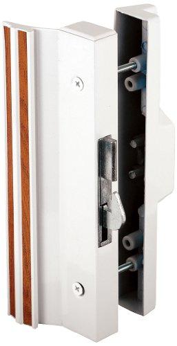 Prime-Line Products C 1118 Anti-Lift Sliding Door Handle Set, White Aluminum/Die Cast front-82808