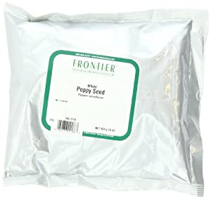 Frontier Poppy Seed Whole, 16-Ounce Bags (Pack of 2)