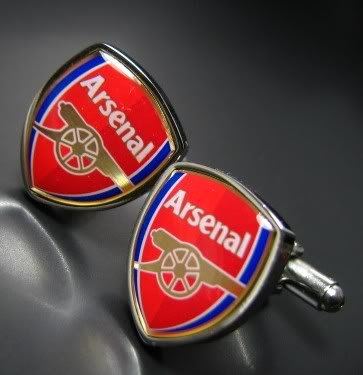 Arsenal Football Soccer World Cup Cufflinks Cuff Links