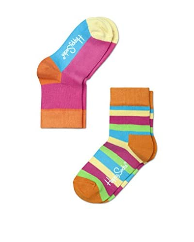 Happy Socks Kid's 2-Pack Stripe & Colorblock Socks