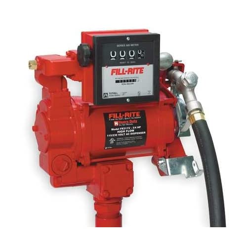 FILL RITE FR311V Fuel Transfer Pump,3/4 HP,Up to 35 GPM