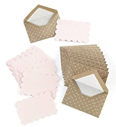 Martha Stewart Crafts Kraft Swiss Dot Card and Envelope Set