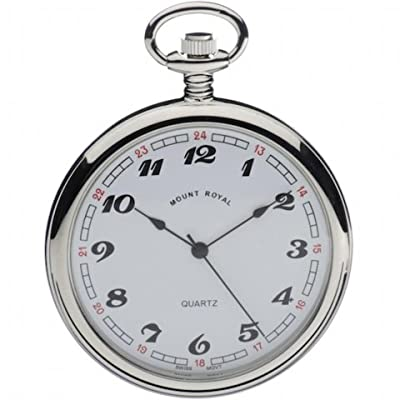 Mount Royal Pocket Watch B2 Chrome Plated Open Face