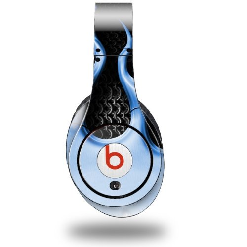 Metal Flames Blue Decal Style Skin (Fits Original Beats Studio Headphones - Headphones Not Included)
