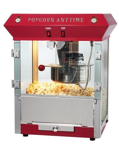 popcorn anytime 6 ounce popcorn machine color red. Black Bedroom Furniture Sets. Home Design Ideas