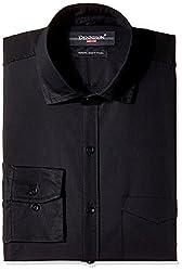 Dennison Men's Formal Shirt (SS-16-380_Black_42)
