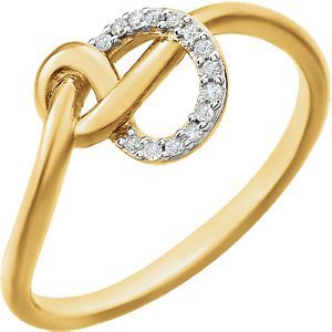 14kt Yellow .05 CTW Diamond Knot Ring