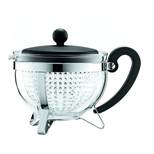 Bodum Chambord 1-Liter Tea Pot, 34-Ounce, Black (Chambord Teapot compare prices)