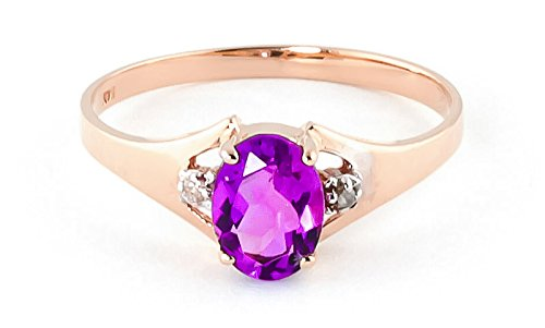 QP Jewellers Natural Diamond & Pink Topaz Ring in 9ct Rose Gold, 0.75ct Oval Cut - 4247R
