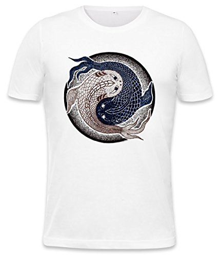 Yin Yang Fish Logo Mens T-Shirt Medium