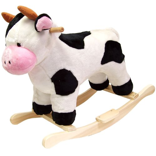 Happy Trails Cow Plush Rocking Animal - 1