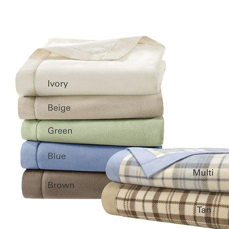 Micro Fleece Blanket In Wedgewood Size: Full / Queen