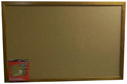 Dooley Oak Framed Cork Board, 17 x23 Inches (1723CODE)