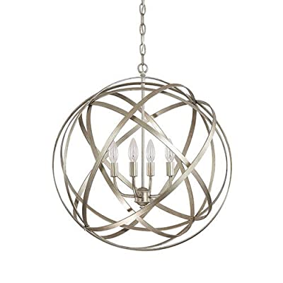 (USA Warehouse) Modern 4 Light Globe Chandelier Orb Pendant Lamp Ceiling Fixture Home Lighting -/PT# HF983-1754364866