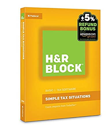 H&R Block Tax Software Basic 2016 + Refund Bonus Offer