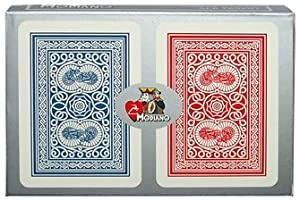 Trademark Poker Modiano 100% Plastic Poker Size Reg Index Old Trophy Setup Playing Cards (Multi)