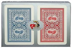 Trademark Poker Modiano 100% Plastic Poker Size Reg Index Old Trophy Setup Playing Cards (Multi)