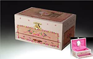 Gorgeous spinning ballerina music jewelry box for Amazon ballerina musical jewelry box