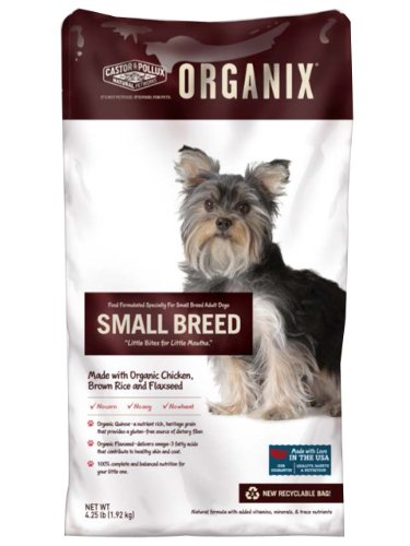 Organix Small Breed Adult Dog Food, 4.25-Pound