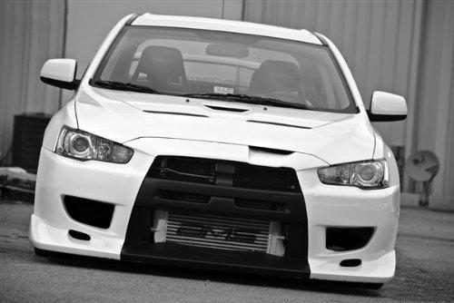 mitsubishi-evo-x-front-black-and-white-on-black-wheels-4b11t-hd-poster-36-x-24-inch-print