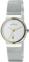 Skagen Womens 355SGSC Two-Tone Mesh Watch