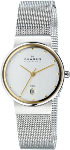 Skagen Women's 355SGSC Two-Tone Mesh Watch