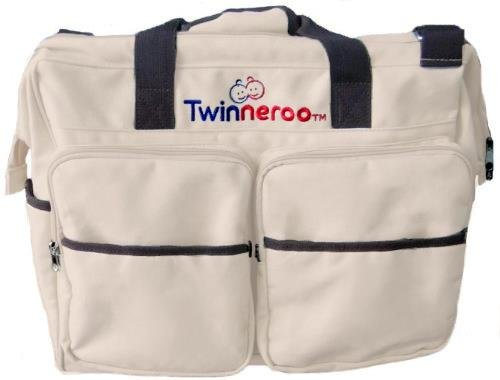 Stuff 4 Multiples Twinneroo Twin Diaper Bag, Khaki