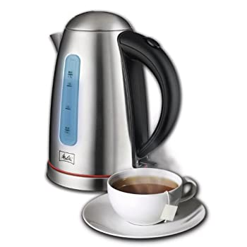 The Melitta 1.7 liter kettle is made with a premium stainless steel finish and push button lid that opens gently. It's cord free and has a concealed element for easy, drip free pouring. You can feel safe knowing that there's an aoutomatic shutoff wit...