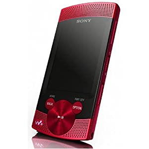 Sony Walkman NWZS 545 Tragbarer MP3-/Video-Player 16 GB (6,1 cm (2,4 Zoll) Farb-Display, UKW Radio, Mikrofon, USB 2.0) rot