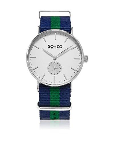 SO & CO New York Uhr mit japanischem Quarzuhrwerk blau/grün