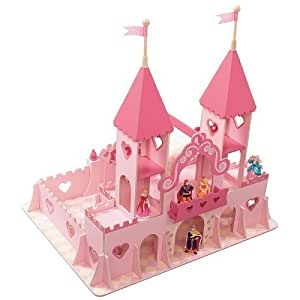 NEW Step 2 Pink Princess Palace Wood Dollhouse Castle