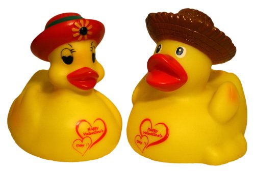 In Love Gift Set Of Pair Jack N Jill Rubber Ducks, Waddlers Brand Rubber Ducks Family, Specially Made For In Love Couple Gift Rubber Ducky Set Of 2, All Departments Gift Set front-523796