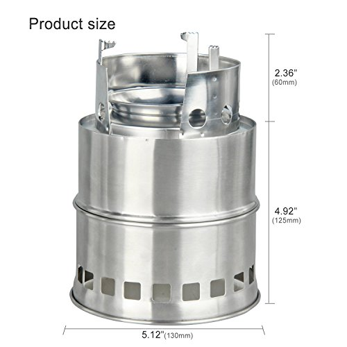 Tagvo portable stainless steel bbq camping stove